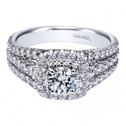 Gabriel 14 Karat Contemporary Engagement Ring ER910148W44JJ