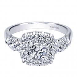 Gabriel 14 Karat Contemporary Engagement Ring ER910292W44JJ