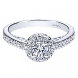 Gabriel 14 Karat Contemporary Engagement Ring ER98577W44JJ