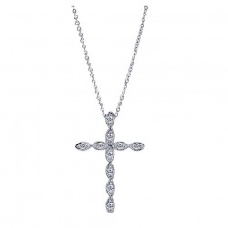 Gabriel Fashion 14 Karat Faith Cross Necklace NK2211W45JJ