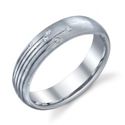 244582 Christian Bauer 14 Karat Diamond  Wedding Ring / Band