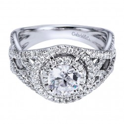Gabriel 14 Karat Contemporary Engagement Ring ER6434W44JJ