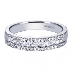 Gabriel 14 Karat Contemporary Wedding Band WB4253W44JJ