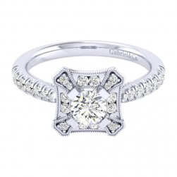 Gabriel 14 Karat Perfect Match Engagement Ring ER039A2AEW44JJ