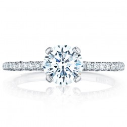 HT254515RD65 Platinum Tacori Petite Crescent Engagement Ring