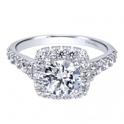 Gabriel 14 Karat Contemporary Engagement Ring ER10287W44JJ