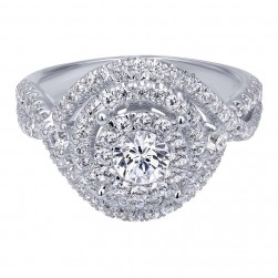 Gabriel 14 Karat Contemporary Engagement Ring ER910427W44JJ