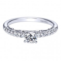 Gabriel 14 Karat Contemporary Engagement Ring ER98701W44JJ