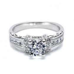 Tacori Platinum Hand Engraved Engagement Ring HT2196RD7