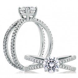 A.JAFFE Platinum Classic Engagement Ring ME1751