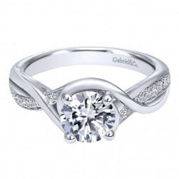 Gabriel 14 Karat Contemporary Engagement Ring ER10315W44JJ