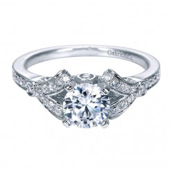 Gabriel 14 Karat Contemporary Engagement Ring ER8004W44JJ