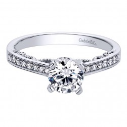 Gabriel 14 Karat Contemporary Engagement Ring ER8121W44JJ