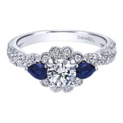 Gabriel 14 Karat Contemporary Engagement Ring ER910221W44SA