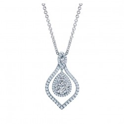 Gabriel Fashion 14 Karat Clustered Diamonds Necklace NK3039W44JJ