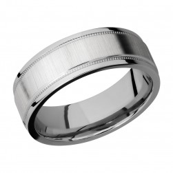 Lashbrook 7.5FGEW2UMIL Titanium Wedding Ring or Band