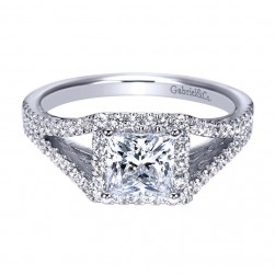 Gabriel 14 Karat Contemporary Engagement Ring ER8054W44JJ