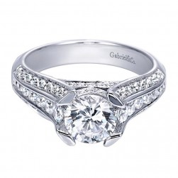 Gabriel 14 Karat Contemporary Engagement Ring ER8185W44JJ