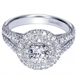 Gabriel 14 Karat Contemporary Engagement Ring ER98504W44JJ