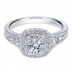 Gabriel 14 Karat Contemporary Engagement Ring ER910162W44JJ