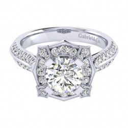 Gabriel 14 Karat Perfect Match Engagement Ring ER002C6ADW44JJ