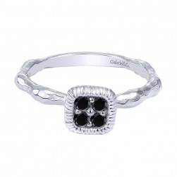 Gabriel Fashion Silver Stackable Stackable Ladies' Ring LR50275SVJBS