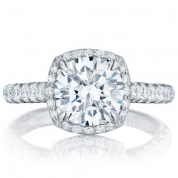 HT254725CU85 Platinum Tacori Petite Crescent Engagement Ring