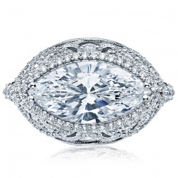Tacori HT2612MQ16X8 18 Karat RoyalT Engagement Ring
