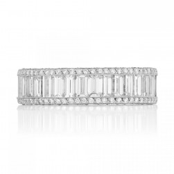 5007BG Platinum Tacori Vault Diamond Wedding Ring
