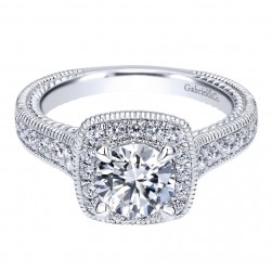 Gabriel 14 Karat Contemporary Engagement Ring ER10107W44JJ