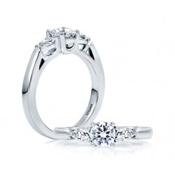 A.JAFFE Platinum Classic Engagement Ring ME1703