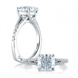 A.JAFFE Platinum Signature Engagement Ring MES578