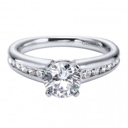 Gabriel 14 Karat Contemporary Engagement Ring ER4182W44JJ