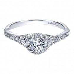 Gabriel 14 Karat Contemporary Engagement Ring ER911925R1W44JJ