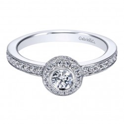 Gabriel 14 Karat Contemporary Engagement Ring ER96074W44JJ