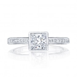 301-25PR55 Platinum Tacori Starlit Engagement Ring