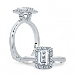 A.JAFFE Platinum Signature Engagement Ring MES673