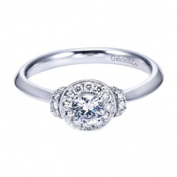 Gabriel 14 Karat Contemporary Engagement Ring ER6960W44JJ
