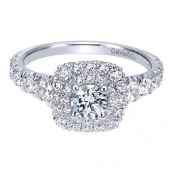 Gabriel 14 Karat Contemporary Engagement Ring ER911898R0W44JJ