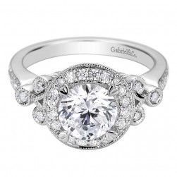 Gabriel 14 Karat Contemporary Engagement Ring ER9240W44JJ