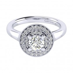 Gabriel 14 Karat Perfect Match Engagement Ring ER009B3AHW44JJ
