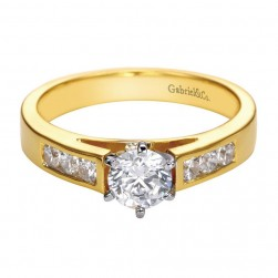 Gabriel 14 Karat Contemporary Engagement Ring ER2315M43JJ