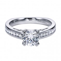 Gabriel 14 Karat Contemporary Engagement Ring ER6655W44JJ