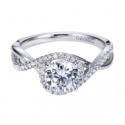 Gabriel 14 Karat Contemporary Engagement Ring ER7804W44JJ