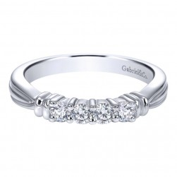 Gabriel 14 Karat Contemporary Wedding Band WB2772W44JJ