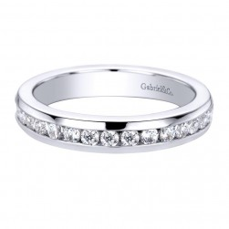 Gabriel 14 Karat Contemporary Wedding Band WB9441W44JJ
