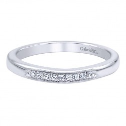 Gabriel 14 Karat Contemporary Wedding Band WB9764W44JJ