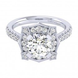 Gabriel 14 Karat Perfect Match Engagement Ring ER039C8ADW44JJ