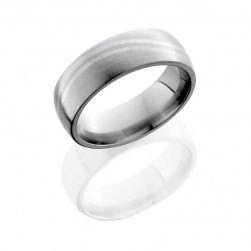 Lashbrook 7DDBLWAVE/SS SATIN Titanium Wedding Ring or Band
