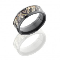 Lashbrook ZCAMO8B15-MOSSYOAK POLISH Camo Wedding Ring or Band